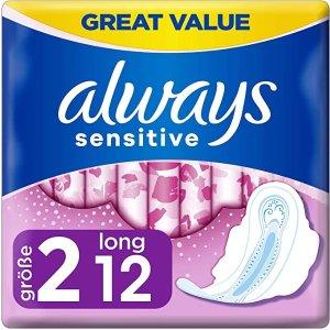 always白菜价8p/条!敏感型卫生巾 12条