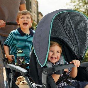 $225.99(原价$349.99)+包邮史低价:Graco Modes Duo 双人童车 后座面朝前&后 从婴儿到大童两个娃都适用