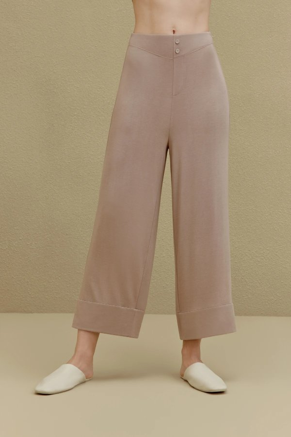 王菲同款 羊绒蛋白拼接经典睡裤
