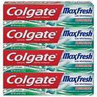 Colgate 美白牙膏 薄荷味 6oz 4支装 拥有好口气