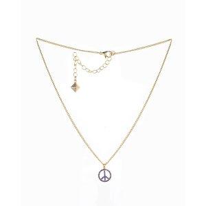 Nicole MillerBlue Stone Peace Sign Necklace