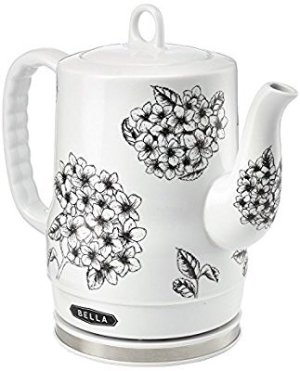 BELLA 13622 1.2L Electric Ceramic Tea Kettle with detachable base and boil dry protection @ Amazon