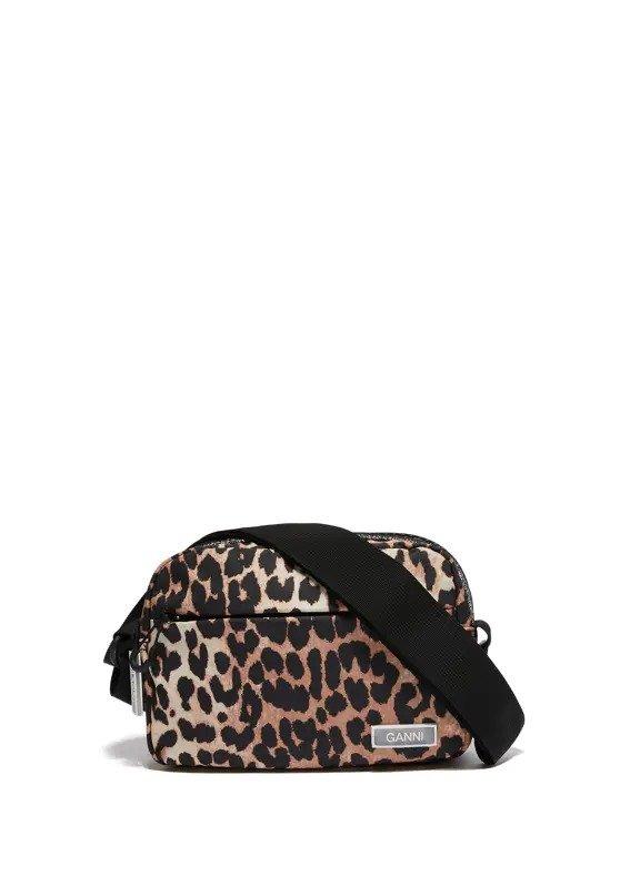 豹纹单肩包
