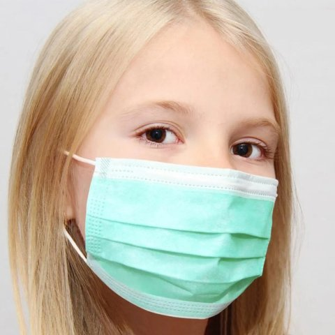 Kata 3-Ply Pleated Disposable Children's Face Masks 50-Pack