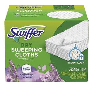 $7.57 (原价$12.56)Swiffer 拖把替换干拖布 超值32片 清扫不费劲
