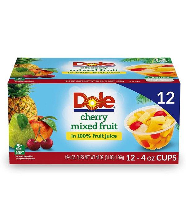 樱桃混合口味100%天然水果杯 4oz 12杯装