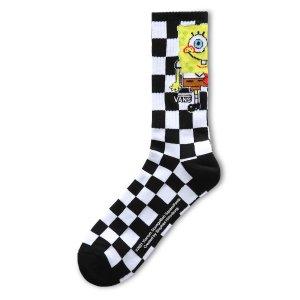 Vans48%棉 X SpongeBob 格纹袜子