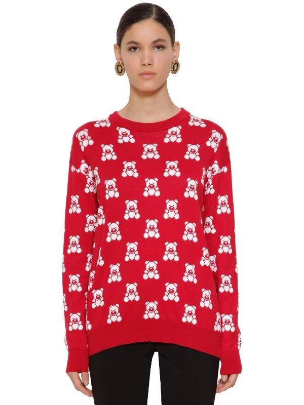红色小熊毛衣