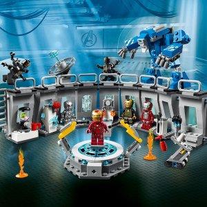 $67.97(原价$79.99)LEGO乐高 钢铁侠武器库 漫威系列必收大作76125 共524颗
