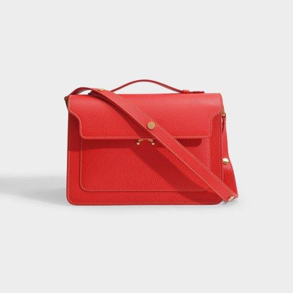 大红色风琴包