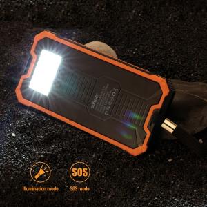 $24.99折扣升级:Soluser  15000mAh便携式太阳能双口移动充电宝