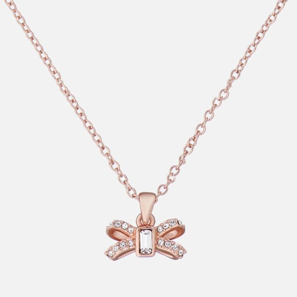 玫瑰金蝴蝶结项链