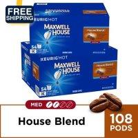 Maxwell House 咖啡胶囊 2盒装(108颗)