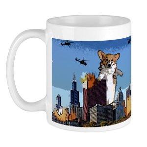 Corgi-zilla Mug on CafePress.com