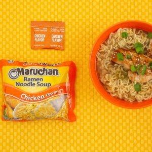 $3.88 包邮 一袋仅$0.16Maruchan 鸡肉味方便面  3 oz. 24袋装
