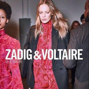 低至5折 €126收毛衣Zadig & Voltaire 季中大促 暗黑高冷法风潮牌 与众不同