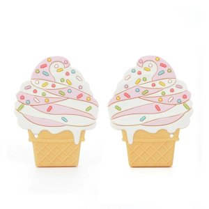 Strawberry Ice Cream Teether with Clip
