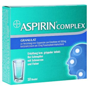 Bayer每包€0.64ASPIRIN COMPLEX 阿司匹林冲剂 10包