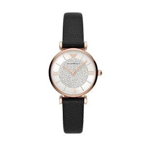 Emporio Armani满£1000享8折女士满天星镶钻皮带手表