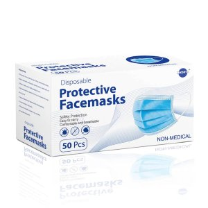 Disposable Face Mask 3-Layer for General Purpose Use 50 Count by MICOOYO