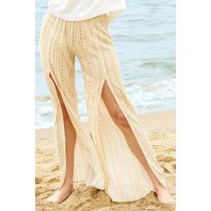 Juniper BluYellow Geometric Printed Wide Leg Pant