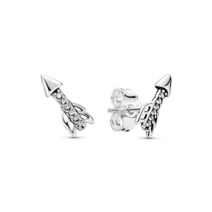 PandoraSparkling Arrow Earrings in Silver