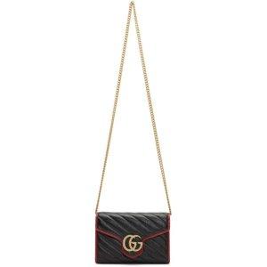 Gucci双G黑红信封包