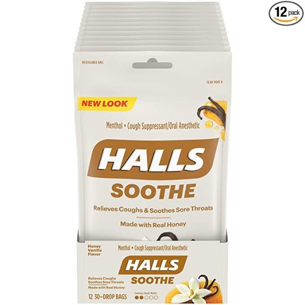 蜂蜜香草味润喉糖 30颗 12包