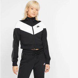 Nike黑白拼色开衫