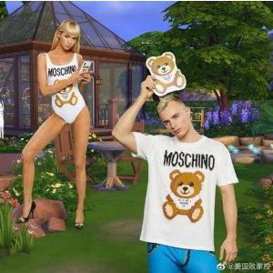低至4折 + 额外8折Moschino 年终特卖  超萌小熊T恤低至$118