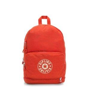 橘红色折叠两用包