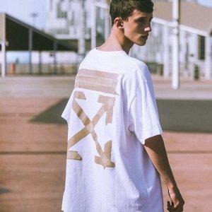 低至7.5折+部分减$120Farfetch 男士专场 新款Off-White T恤$160,麦昆黑尾$290+