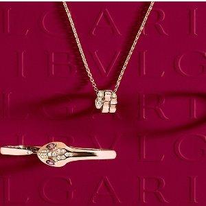 玫瑰金耳环£670新品上市:Bvlgari 宝格丽情人节限定2021 情人节送礼指南 爱的光芒永恒