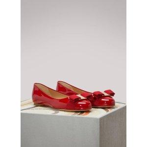 Salvatore Ferragamo蝴蝶结平底鞋