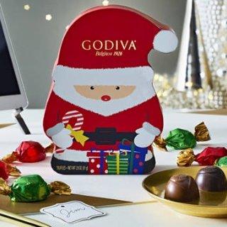 满$50额外7.5折+无门槛免邮即将截止:Godiva精选巧克力亲友特卖会 封面款圣诞老人铁盒$7.5
