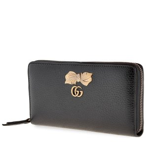 GucciWomens Zip Around Wallet with Bow- Black