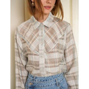 Pixie MarketPlaid Western Shirt