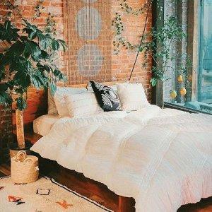 低至5折优惠限今天:Urban Outfitters 网红INS风 床上用品特卖
