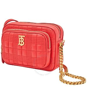 Burberry$50 off $1000Red Small Quilted Check Crossbody Bag