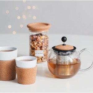 低至€9.5收双层咖啡杯Bodum 咖啡茶具折扣热卖 收茶壶、法压壶 圣诞好礼之选