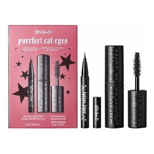 仅€17.95收纹身眼线笔+睫毛膏新品上市:KVD vegan beauty 迷人眼妆两件套装 防水防油