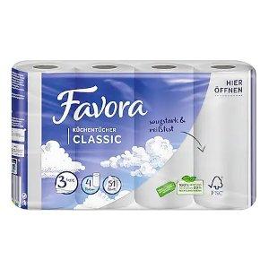 Favora 三层厨房纸 4卷