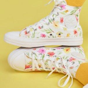 £68收Chuck 70小白鞋上新:Converse 定制款 花朵系列 为了春天早日到来