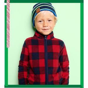 全场包邮+价格降至$6-$8/件 原价$26-$28折扣升级:OshKosh BGosh 儿童抓绒卫衣优惠,有0-14岁码