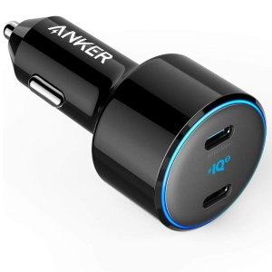 USB C Car Charger, Anker 48W 2-Port PIQ 3.0 Fast Charger Adapter