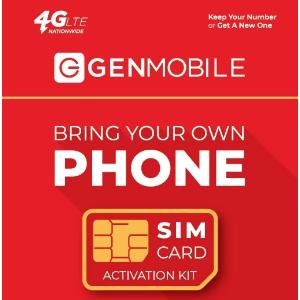 仅需$20/moGen Mobile 国际无限通话 + 每月3GB流量