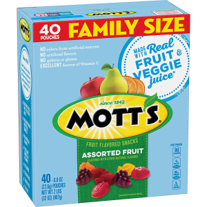 $4.99Mott's Fruit Snacks Assorted Gluten Free 40 Pouches