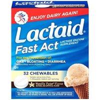 lactaid 乳糖酶酵素咀嚼片 32粒 香草口味