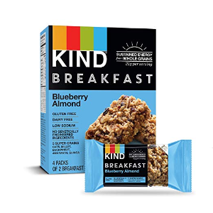 $18.26 (原价$23.12) 一个仅$0.57闪购:Kind 健康坚果谷物能量棒 蓝莓杏仁 1.8 oz 32条
