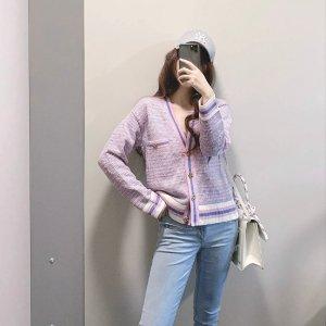 Sandro香芋紫 开衫